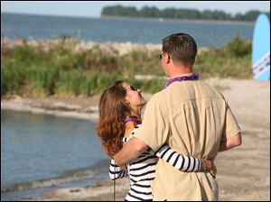 Jennifer and Kurt Pollex of Sylvania enjoy each other's company at Barefoot at the Beach at Maumee Bay State Park in Oregon, Ohio.