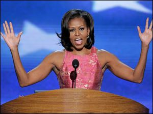 First Lady Michelle Obama told delegates,