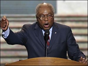 Rep. Jim Clyburn of South Carolina addresses the Democratic National Convention.