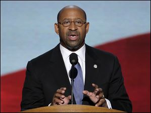 Philadelphia Mayor Michael Nutter addesses the Democratic National Convention.