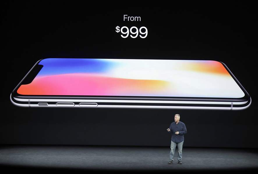 The $1,000 iPhone X comes with 250 gigabytes of storage and an upgraded camera.        ASSOCIATED PRESS